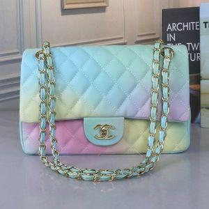 Chanel rainbow colorful bag